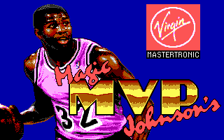Omni-Play Basketball DOS Title screen (VGA)