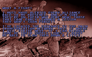 Operation Carnage DOS Blurb before a new stage