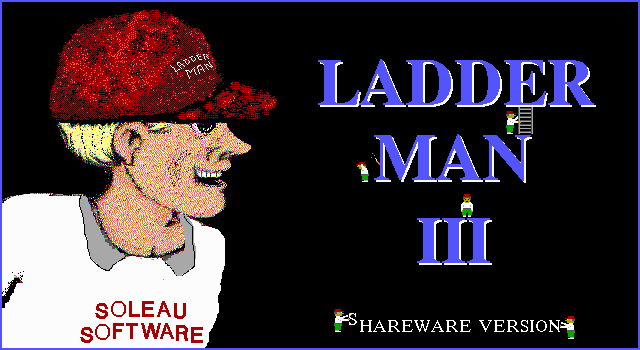Ladder Man III DOS Title screen