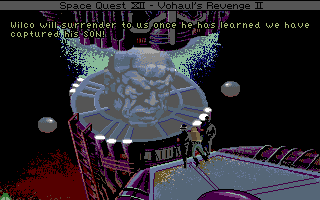 Space Quest IV: Roger Wilco and the Time Rippers Amiga Vohual captures your son!