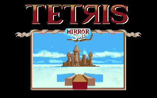 Tetris Amiga Title screen (Mirrorsoft)