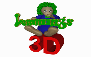 Lemmings 3D DOS Title screen