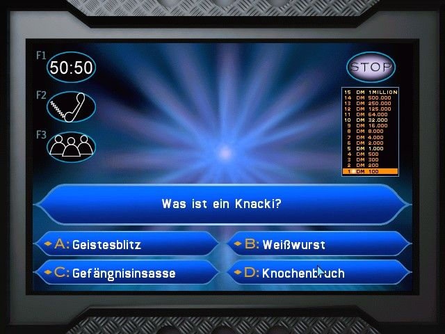 Who Wants to Be a Millionaire Windows The first question... (German edition)