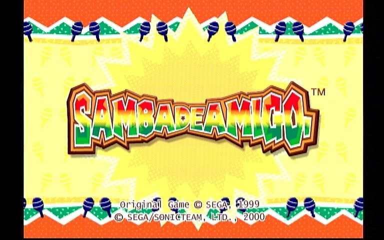 Samba De Amigo Dreamcast Title Screen