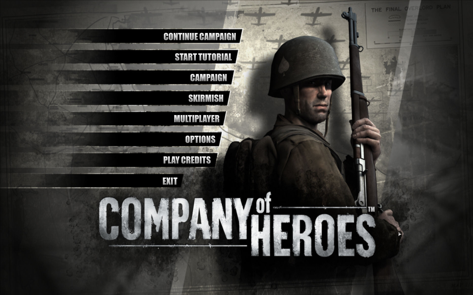 Company of Heroes Windows Main menu