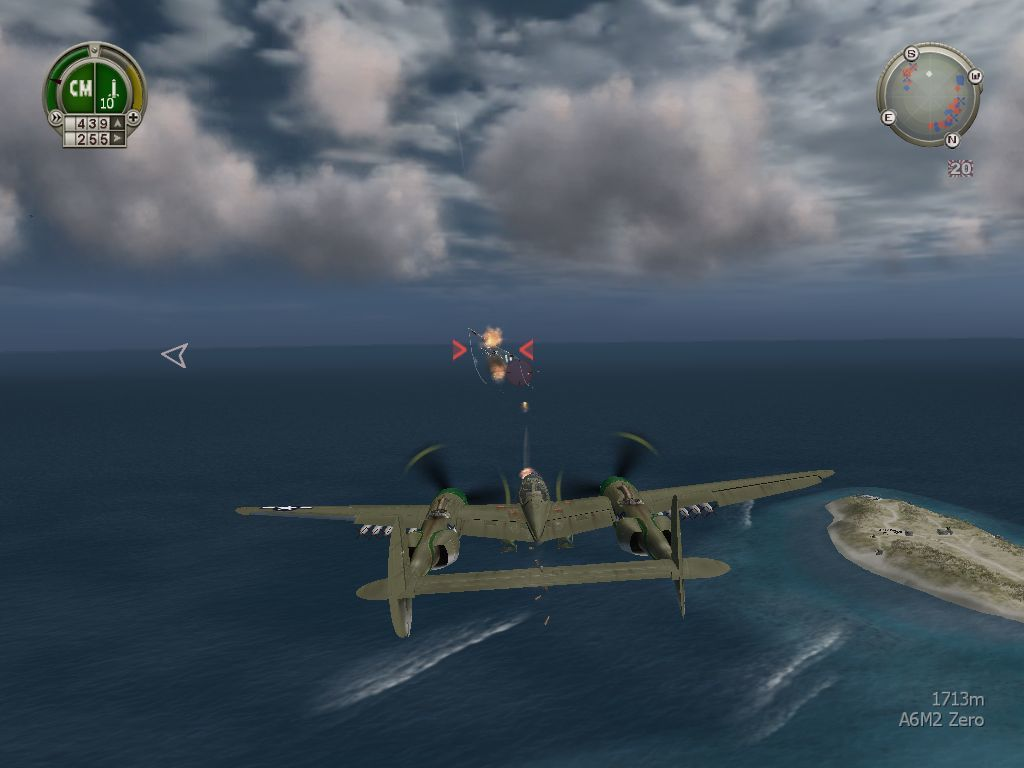 Heroes of the Pacific Windows Incoming enemy fighters
