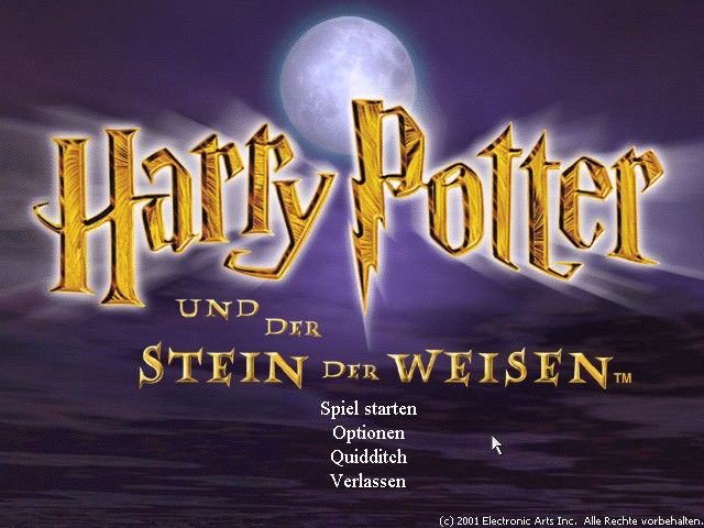 Harry Potter and the Sorcerer's Stone Windows Title screen