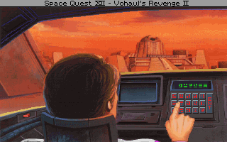 Space Quest IV: Roger Wilco and the Time Rippers DOS Inside the time pod. (MCGA/VGA)