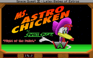 Space Quest IV: Roger Wilco and the Time Rippers DOS It's Mrs. Astro Chicken. Yay! (MCGA/VGA)