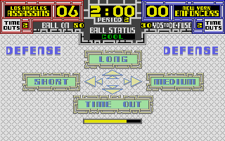 Cyberball Atari ST Defensive formation options