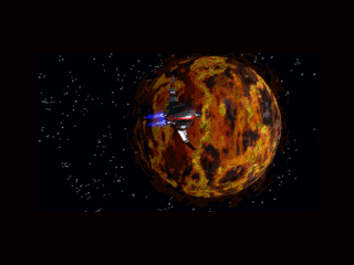 Novastorm 3DO Landing on a lava planet.