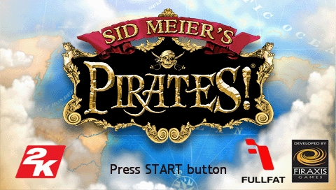 Sid Meier's Pirates! PSP Title screen