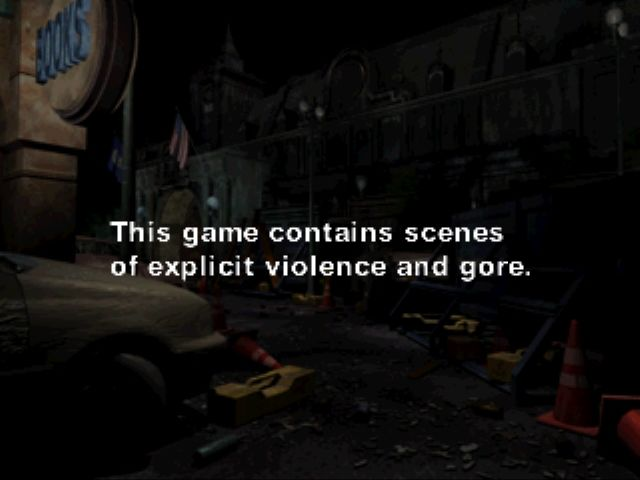 Resident Evil 3: Nemesis Windows Warning