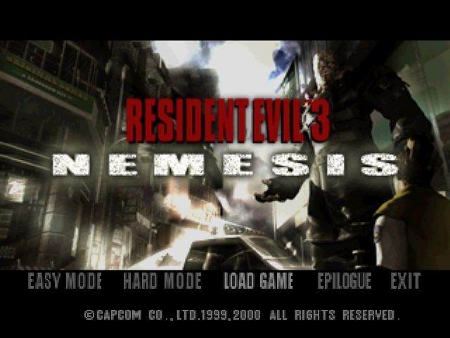 Resident Evil 3: Nemesis Windows Menu