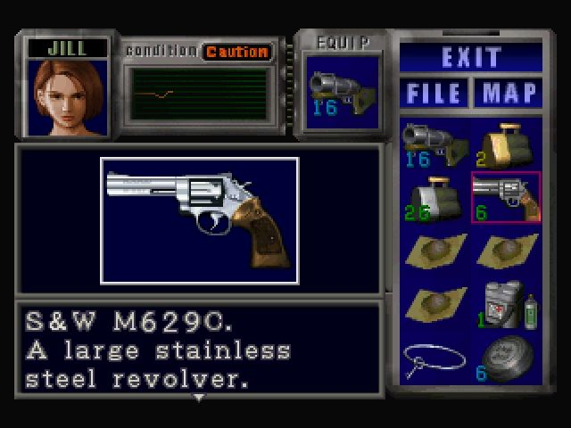 Resident Evil 3: Nemesis Windows Items