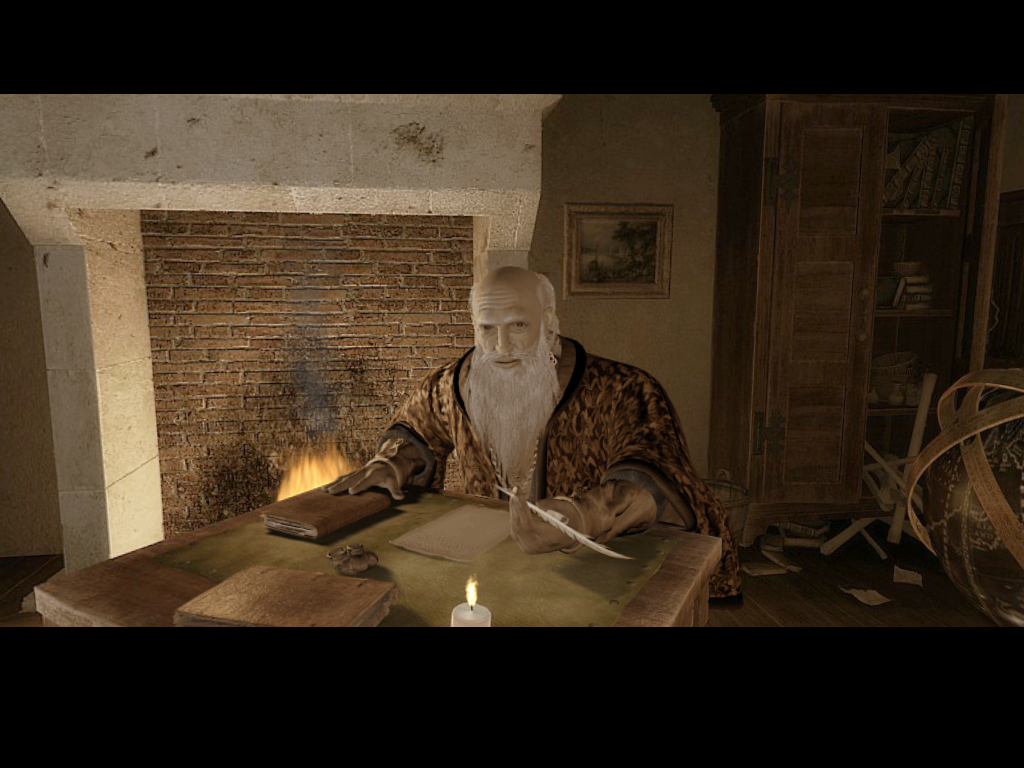 The Secrets of Da Vinci: The Forbidden Manuscript Windows Leonardo talks in cut scenes after important discoveries.