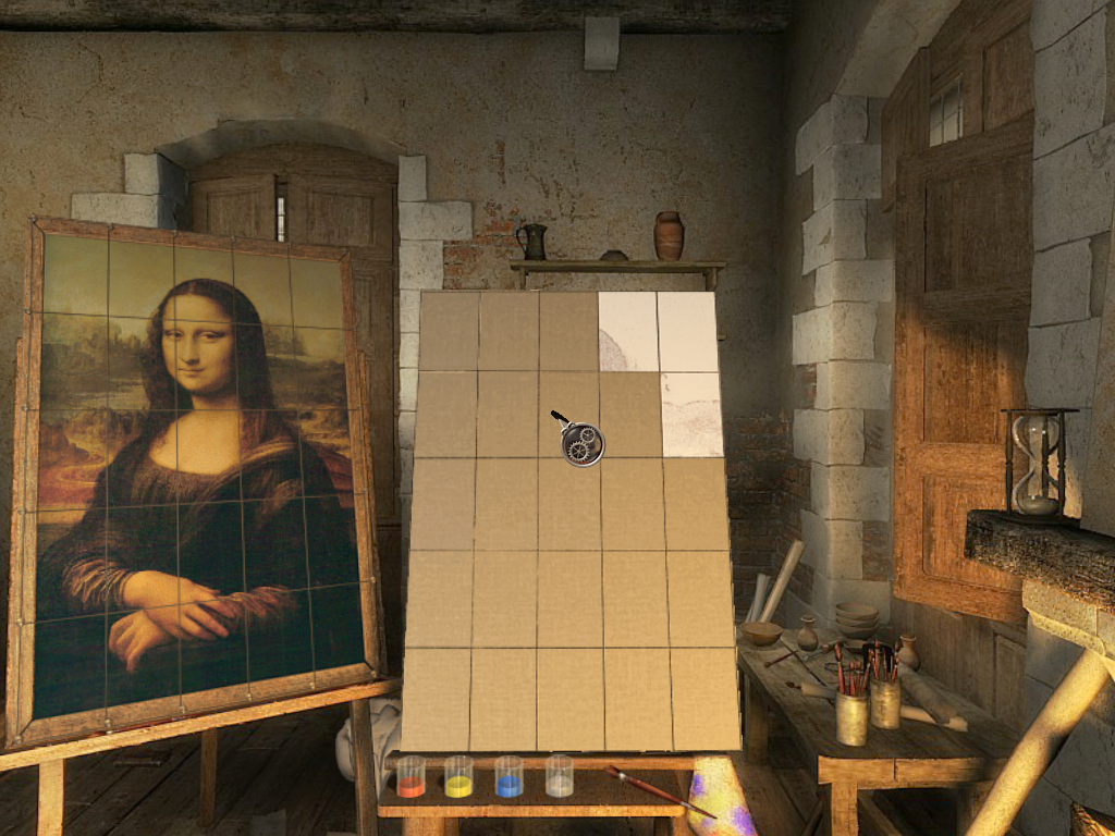 The Secrets of Da Vinci: The Forbidden Manuscript Windows Duplicating the Mona Lisa.