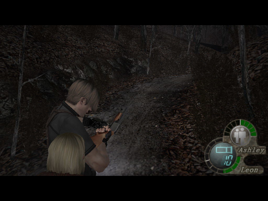 Resident Evil 4 Windows Shotgun reloading.