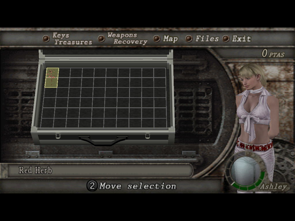 Resident Evil 4 Windows Ashley inventory and alternative outfit