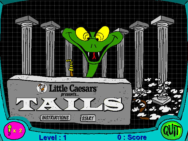Little Caesars Fractions Pizza Windows The Tails arcade game