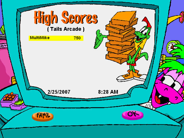Little Caesars Fractions Pizza Windows High scores page