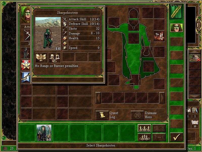 Heroes Chronicles: Clash of the Dragons Windows A key unit in this campaign: the Sharpshooter