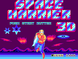 Space Harrier 3-D SEGA Master System Title screen