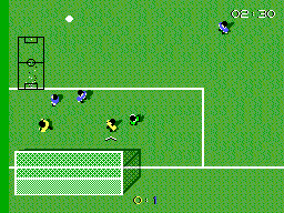 Super Kick Off SEGA Master System Dangerous situation, but goaltender is in control