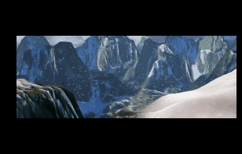 Tomb Raider SEGA Saturn Tibet intro shot 1.