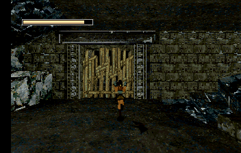 Tomb Raider SEGA Saturn That's one big-ass gate.