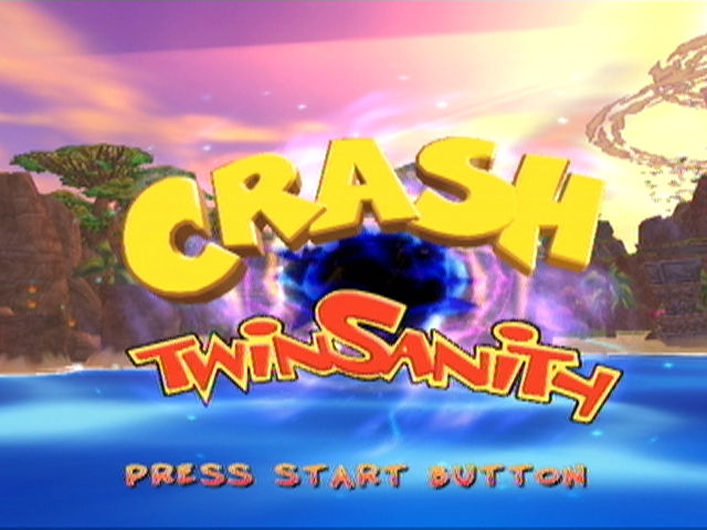 Crash Twinsanity Xbox Title screen