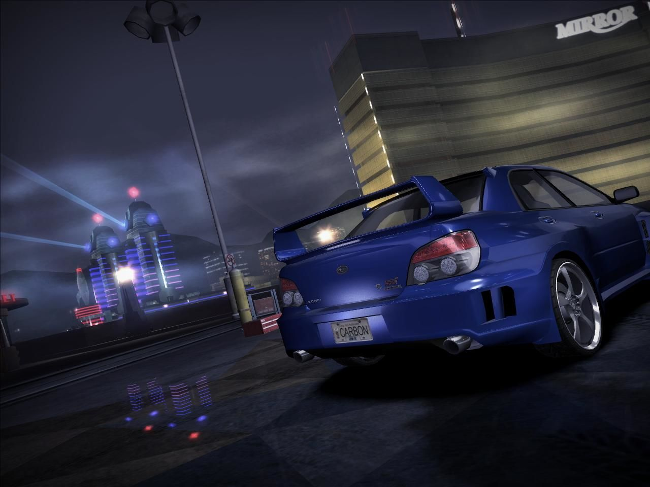 Need for Speed: Carbon Windows The main menu screen without the legends! Makes up for a nice wallpaper for your desktop!