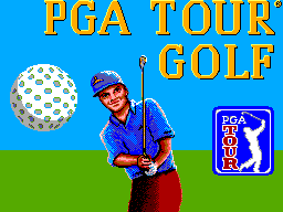 PGA Tour Golf SEGA Master System Title screen