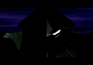 Lucienne's Quest SEGA Saturn Intro shot 1. It's Death Shadow summoning a dragon!