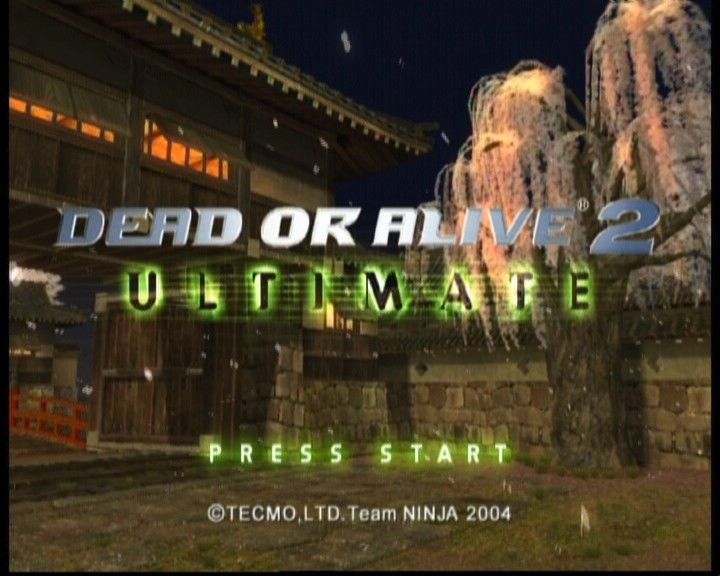 Dead or Alive: Ultimate Xbox DOA2 main title
