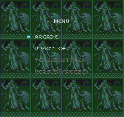 Columns TurboGrafx-16 Main menu