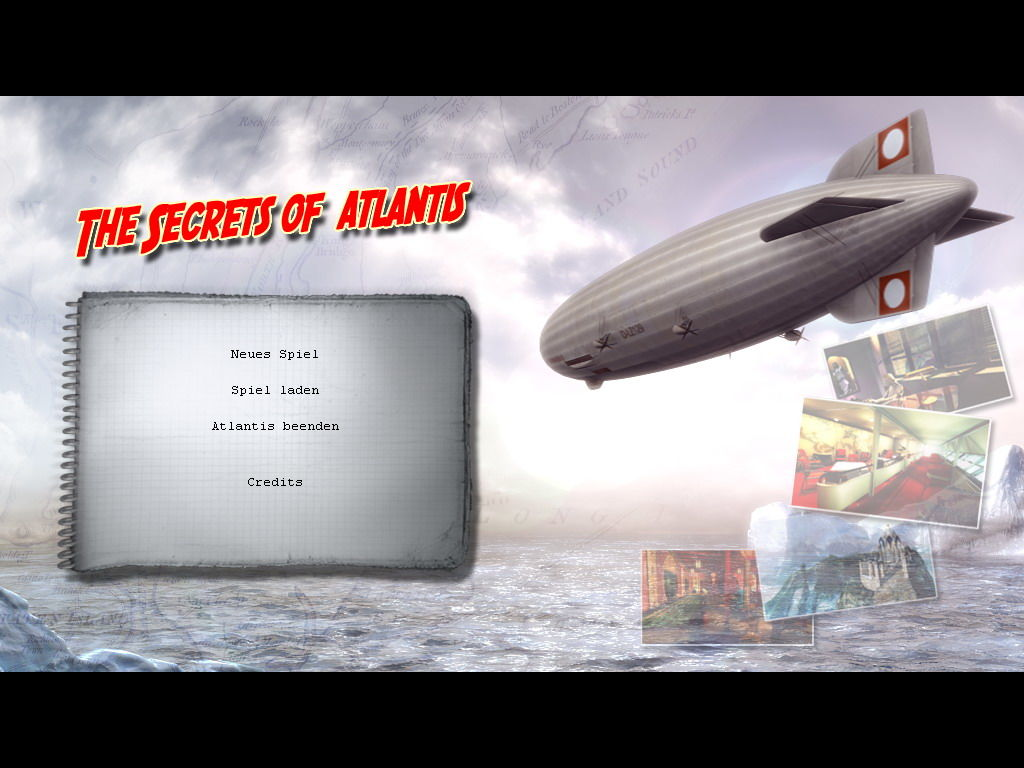 The Secrets of Atlantis: The Sacred Legacy Windows main menu screen