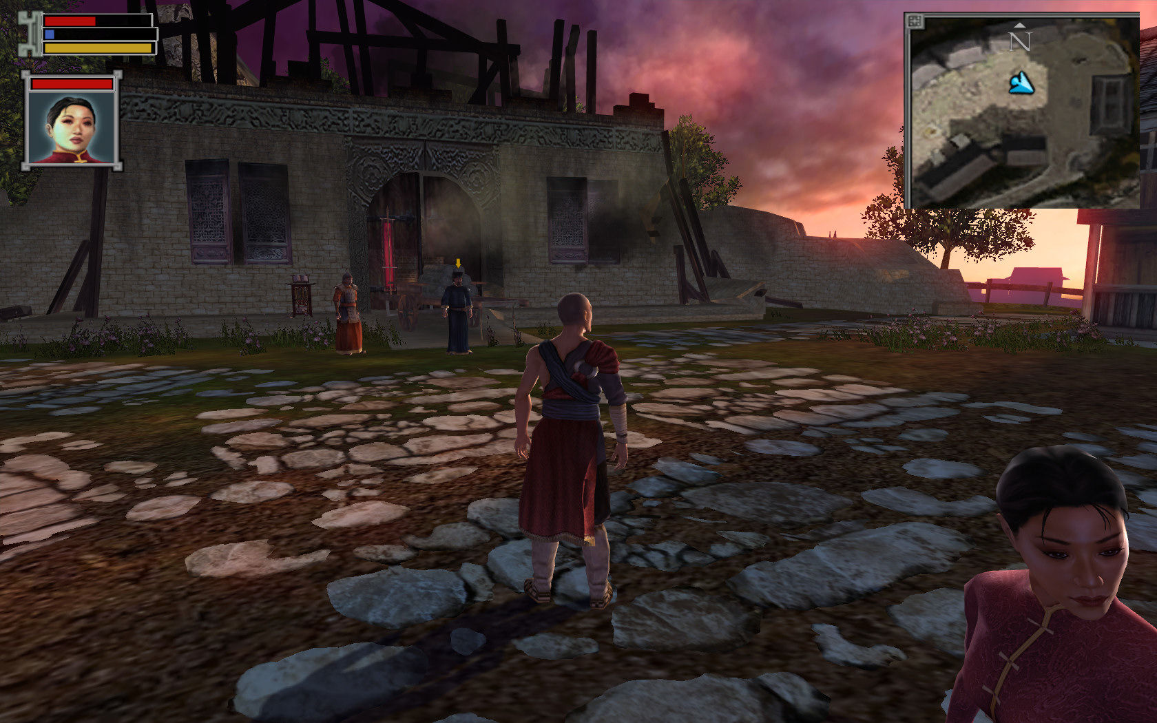 Jade Empire: Special Edition Windows Tien's Landing - a dying village