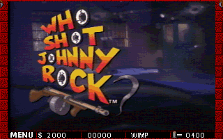 Who Shot Johnny Rock? DOS Title screen