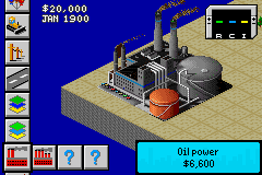 SimCity 2000 Game Boy Advance One of the first thing you must do is build a power plant.