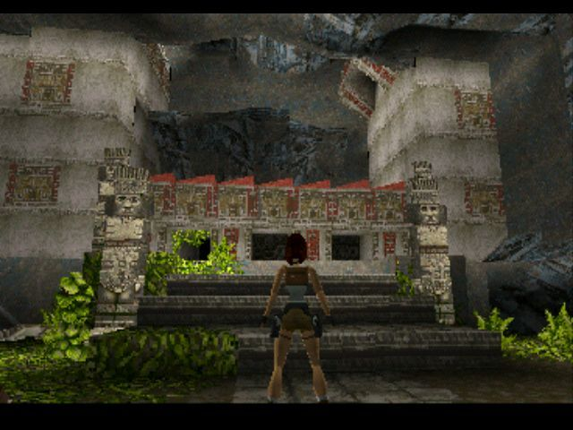 Tomb Raider PlayStation In front of a temple