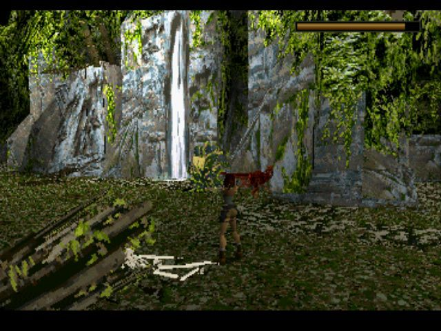 Tomb Raider PlayStation In the lost valley, Lara is attacked by raptors...