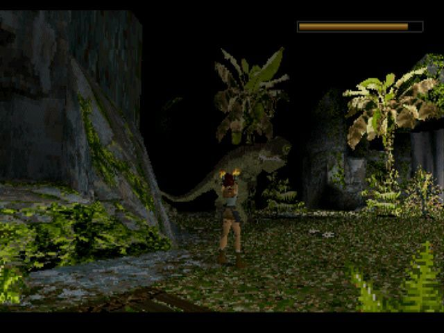 Tomb Raider PlayStation ... and a T-Rex!