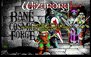 Wizardry: Bane of the Cosmic Forge DOS Title screen