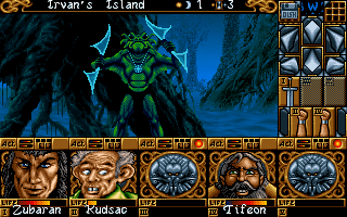 Ishar 2: Messengers of Doom DOS Uh-oh, this guy hits hard!