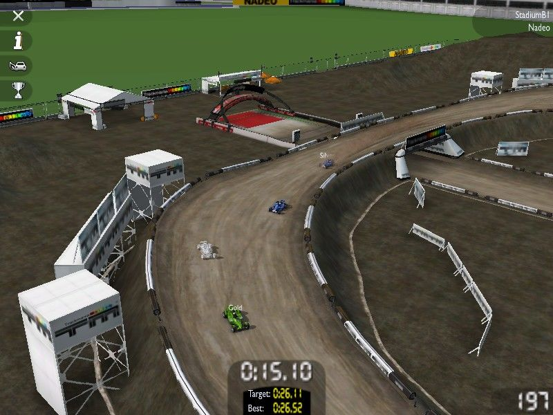 TrackMania United Windows I see finish the line, but there still a long way to go