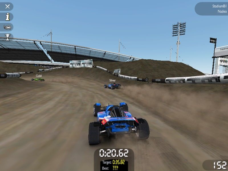 TrackMania United Windows This time we have a dusty stadium
