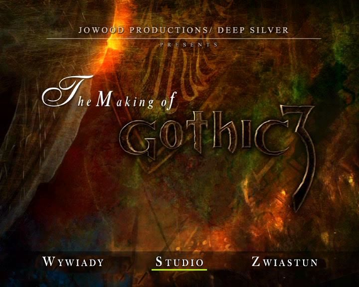 Gothic 3 (Collector's Edition) Windows The making of Gothic 3 DVD - title screen