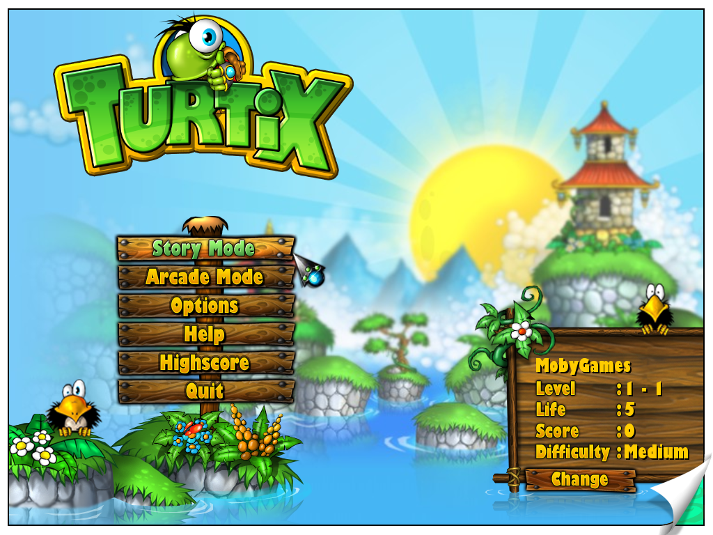 Turtix Windows Title Screen