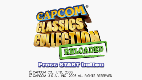 Capcom Classics Collection Reloaded PSP Title screen
